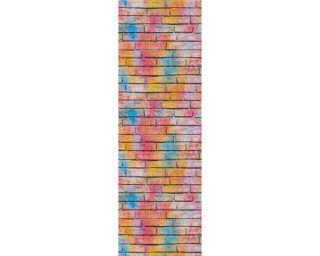 Livingwalls panneau «Pierre, beige, bleu, crème, jaune» 368371