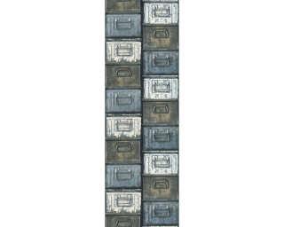 Livingwalls Designpanel «Grafik, Beige, Blau, Braun, Creme» 368431