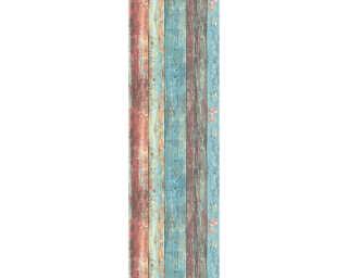 Livingwalls Designpanel «Holz, Landhaus, Beige, Blau, Braun, Creme» 368511