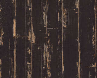 A.S. Création Wallpaper «Wood, Black, Brown» 368562