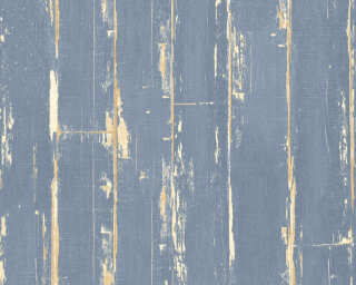A.S. Création Wallpaper «Wood, Cottage, Blue, Brown» 368563