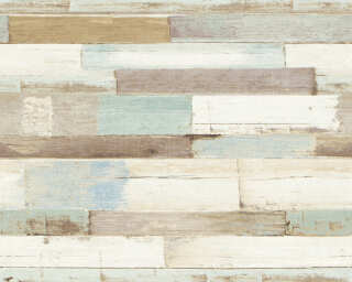 A.S. Création Wallpaper «Wood, Cottage, Black, Blue, Brown, White» 368571
