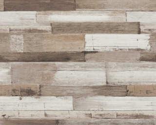 A.S. Création papier peint «Bois, Maison, gris, marron» 368573