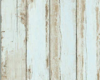 A.S. Création Wallpaper «Wood, Cottage, 3D, Black, Blue, Brown» 368933