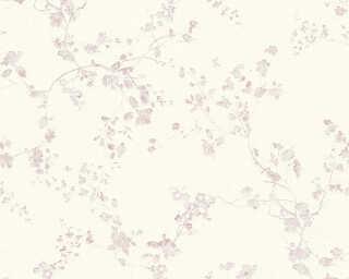 Livingwalls Обои «Деревенский стиль, Цветы, Белые, Кремовые, Фиолетовые» 368961