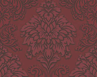 Livingwalls Wallpaper «Baroque, 3D, Black, Metallic, Red, Silver» 368983