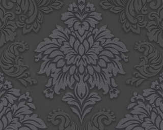 Livingwalls Wallpaper «Baroque, 3D, Black, Grey, Metallic, Silver» 368984