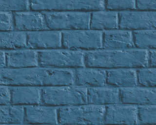 Livingwalls Wallpaper «Stone, Cottage, 3D, Blue» 369123
