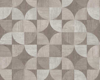 Livingwalls Wallpaper «Wood, Grey, White» 369133