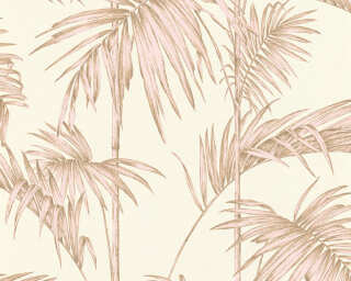 Livingwalls papier peint «Jungle, beige, crème, marron, rose» 369193