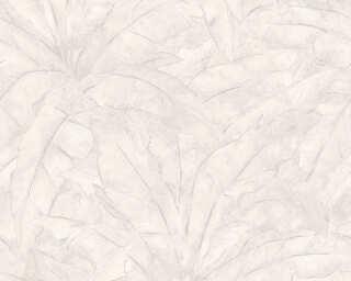 Livingwalls Tapete «Dschungel, Grau, Metallics, Silber, Weiß» 369274