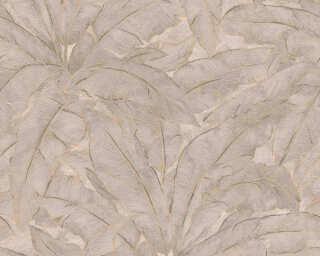 Livingwalls Tapete «Dschungel, Beige, Gold, Grau, Metallics» 369275
