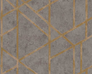 Livingwalls Wallpaper «Graphics, Gold, Grey, Metallic» 369281