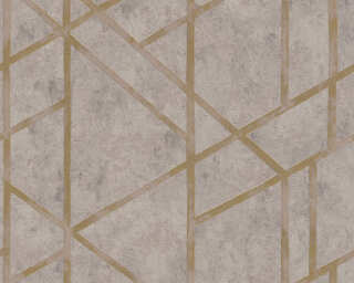 Livingwalls Wallpaper «Graphics, Beige, Gold, Grey, Metallic» 369283