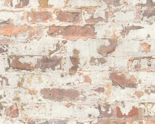 Livingwalls Wallpaper «Stone, Cottage, 3D, Black, Grey, Orange, Red» 369291