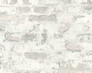 Livingwalls Wallpaper «Stone, Cottage, Grey, White» 369293