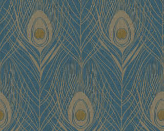 Architects Paper Wallpaper «Graphics, Blue, Gold, Metallic, Yellow» 369712