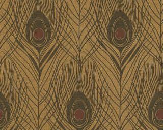 Architects Paper Wallpaper «Graphics, Black, Brown, Metallic» 369718