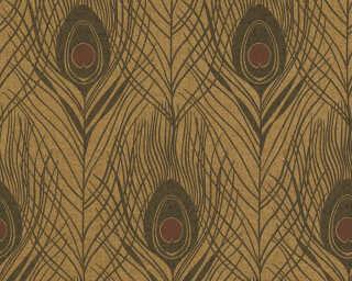 Architects Paper papier peint «Graphique, marron, métallique, noir» 369718