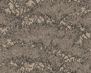 Architects Paper Wallpaper «Floral, Beige, Black, Brown, Grey» 369725