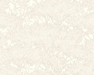 Architects Paper Wallpaper «Floral, Cream, Grey, Metallic, Taupe» 369727