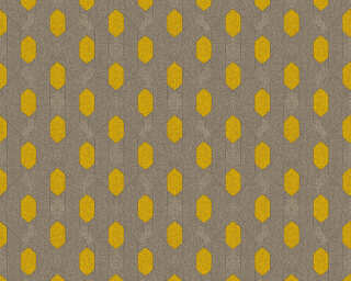 Architects Paper Wallpaper «Graphics, Brown, Grey, Taupe, Yellow» 369732