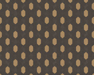 Architects Paper Wallpaper «Graphics, Black, Brown, Metallic» 369735