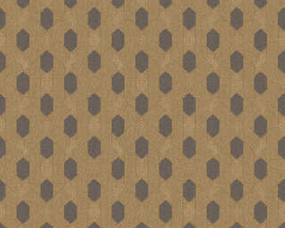 Architects Paper Wallpaper «Graphics, Black, Brown, Metallic» 369736