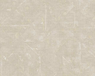 Architects Paper Wallpaper «Uni, Beige, Gold, Grey, Metallic» 369746