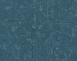 Architects Paper Wallpaper «Uni, Blue, Grey, Metallic, Silver» 369751