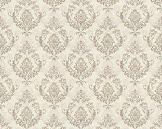 A.S. Création Wallpaper «Baroque, Beige, Cream, Gold, Metallic» 370001