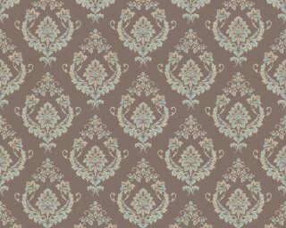 A.S. Création Wallpaper «Baroque, Blue, Brown, Gold, Green» 370003