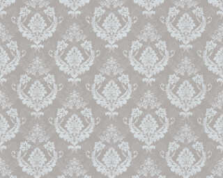 A.S. Création Wallpaper «Baroque, Beige, Grey, Metallic, Silver» 370004