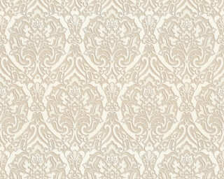 A.S. Création Wallpaper «Baroque, 3D, Beige, Brown, Cream, Silver» 370021