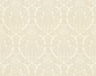 A.S. Création Wallpaper «Baroque, 3D, Cream, Metallic, White» 370022