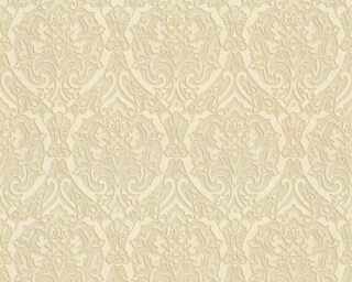 A.S. Création papier peint «Baroque, 3D, beige, crème, métallique, or» 370023