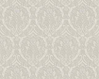 A.S. Création Wallpaper «Baroque, 3D, Copper, Grey, Metallic, Silver» 370024