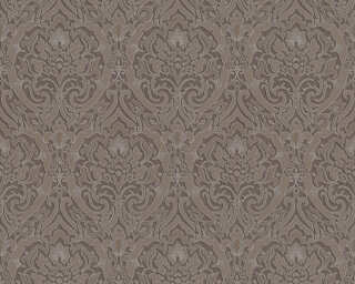 A.S. Création Wallpaper «Baroque, 3D, Brown, Metallic, Silver» 370026
