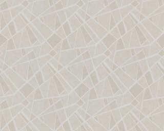 A.S. Création papier peint «Graphique, argent, gris, métallique» 370031
