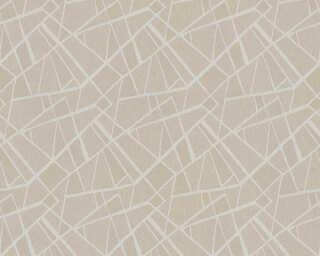 A.S. Création papier peint «Graphique, gris, marron, métallique» 370034