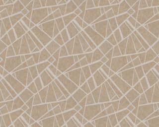 A.S. Création Wallpaper «Graphics, Brown, Cream, Metallic» 370035