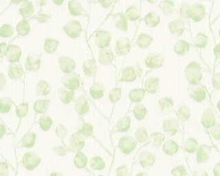 A.S. Création Wallpaper «Floral, Green, White» 370051