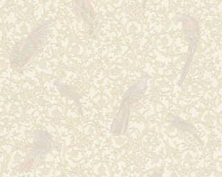 Versace Home papier peint «Baroque, Fleurs, beige, blanc, bleu, crème» 370535