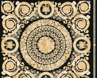 Versace Home Wallpaper «Baroque, Beige, Black, Cream, Gold» 370553
