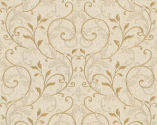 A.S. Création Wallpaper «Floral, Beige, Cream, Gold, Metallic» 370572
