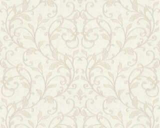A.S. Création Wallpaper «Floral, Grey, Metallic, Silver, White» 370573