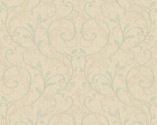 A.S. Création Wallpaper «Floral, Beige, Blue, Green, Turquoise» 370574