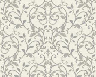 A.S. Création Wallpaper «Floral, Black, Metallic, Silver, White» 370576
