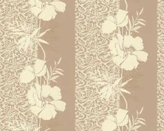 A.S. Création papier peint «Baroque, Floral, beige, jaune» 370723