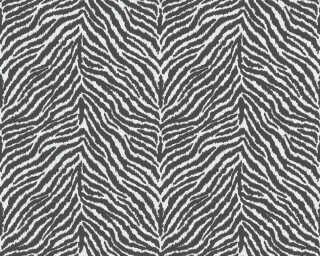 A.S. Création papier peint «Graphique, blanc, noir» 371201
